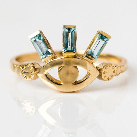 Sky Illumination Ring in 14K - rings - Nora Sermez local eclectic