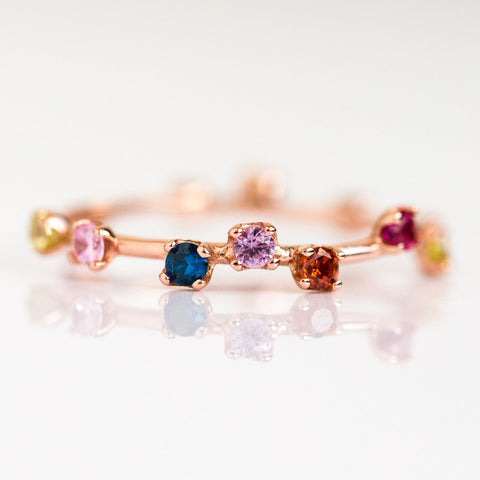 Multi Gem Rainbow Constellation Ring - rings - Girls Crew local eclectic