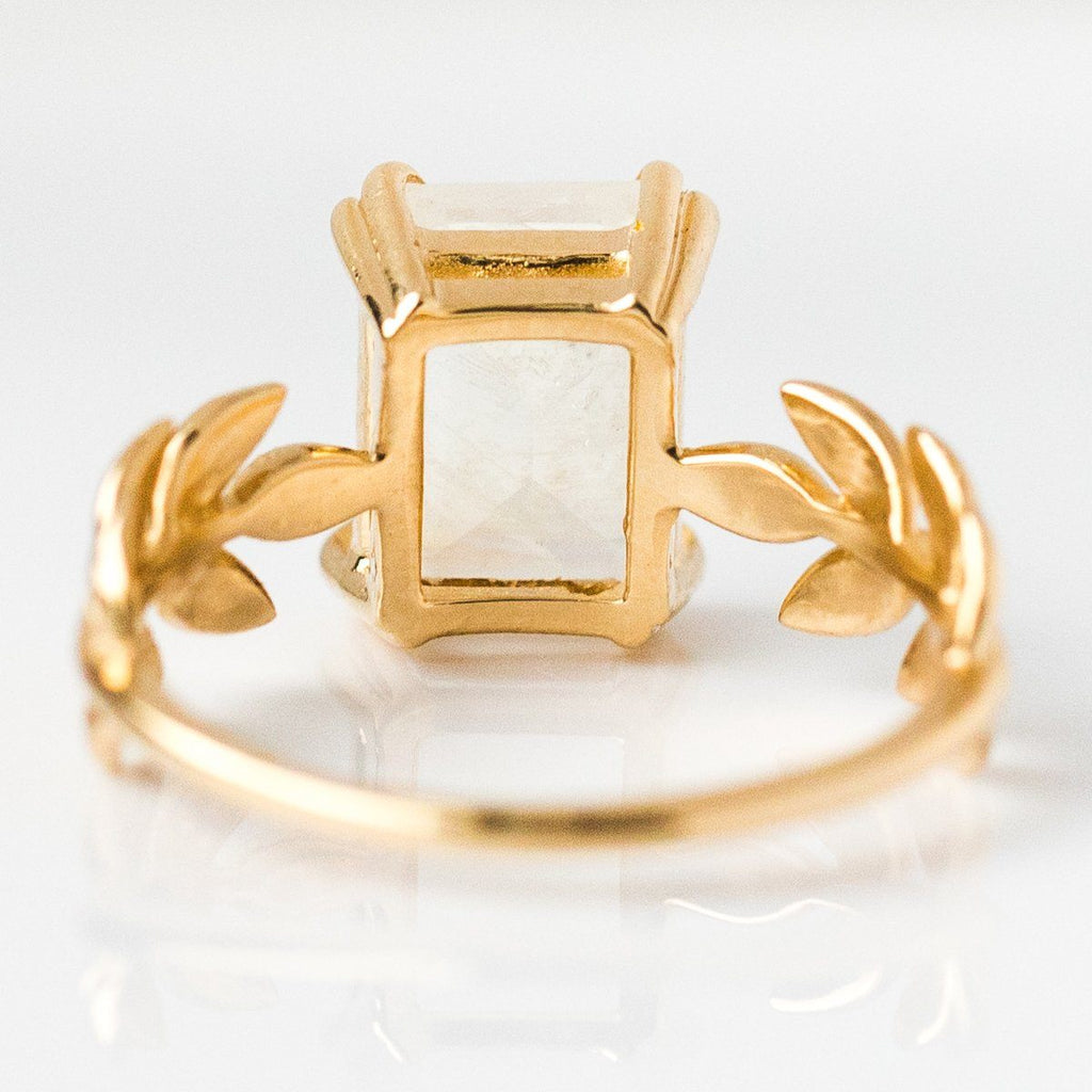 Moon Goddess Ring in 14K - rings - Nora Sermez local eclectic