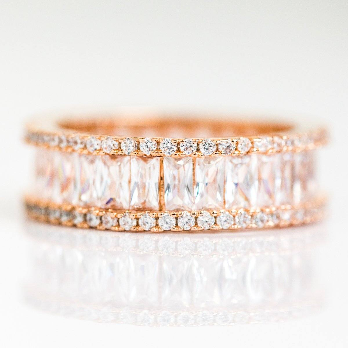 Local Eclectic Rose Gold Royal Statement Ring