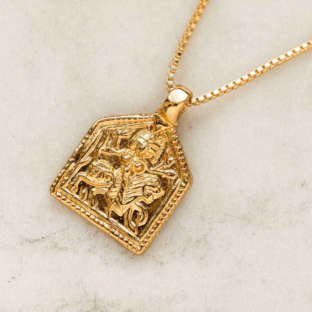 Ancient Cubed Charm Necklace - necklaces - Girls Crew local eclectic