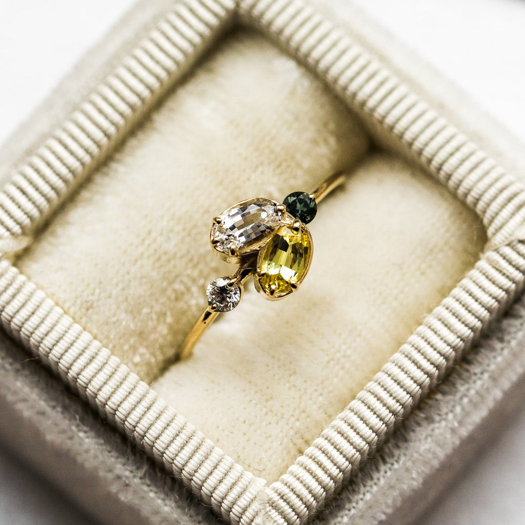 Juniper Ring with Yellow Sapphire in Yellow Gold - rings - Melanie Casey local eclectic