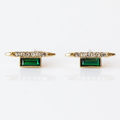 Vendetta Stud Earrings in Emerald - earrings - Lover's Tempo local eclectic