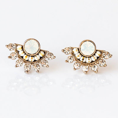 Nico Fan Earrings in White Opal - earrings - Lover's Tempo local eclectic