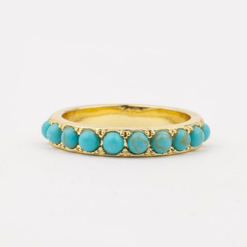 Isla Ring with Turquoise - rings - Five and Two local eclectic