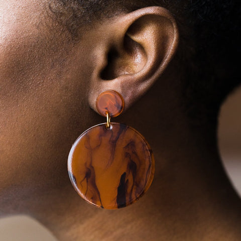 Laguna Earrings in Amber Swirl - earrings - Amber Sceats local eclectic