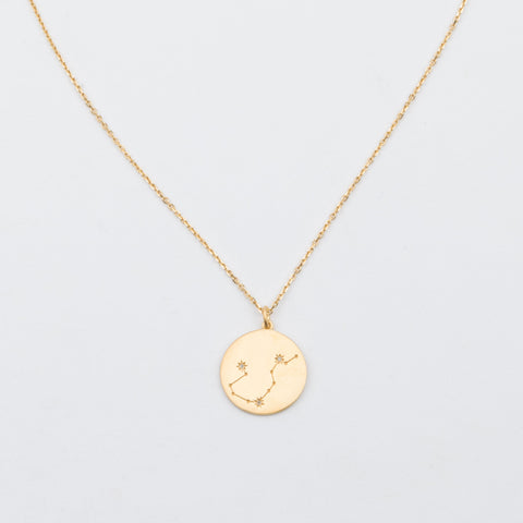 14K Gold Vermeil Diamond Constellation Aquarius Necklace - necklaces - Carrie Elizabeth Jewelry local eclectic