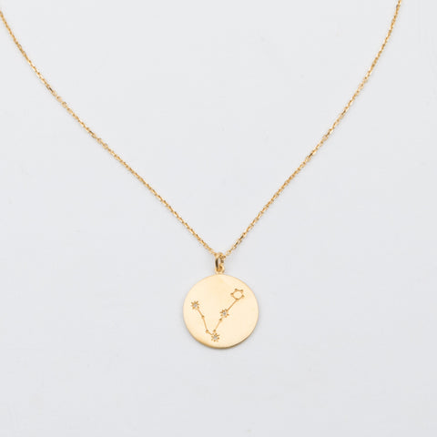 14K Gold Vermeil Diamond Constellation Pisces Necklace - necklaces - Carrie Elizabeth Jewelry local eclectic