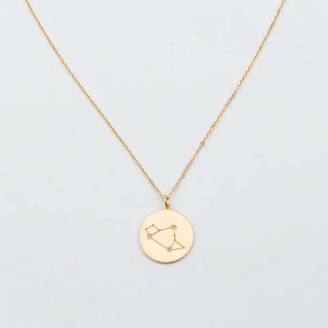 14K Gold Vermeil Diamond Constellation Sagittarius Necklace - necklaces - Carrie Elizabeth Jewelry local eclectic