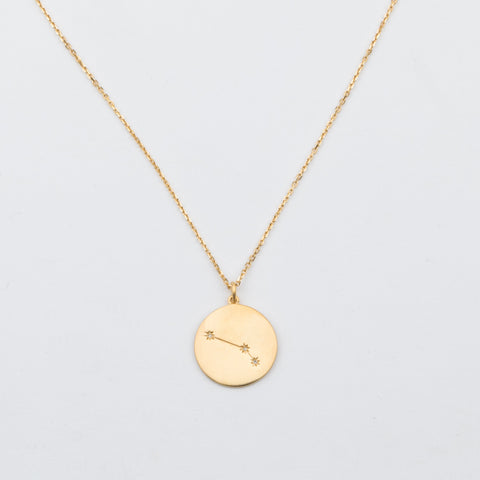14K Gold Vermeil Diamond Constellation Aries Necklace - necklaces - Carrie Elizabeth Jewelry local eclectic