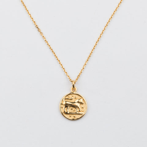 14K Gold Vermeil Leo Horoscope Pendant Necklace - necklaces - Carrie Elizabeth Jewelry local eclectic