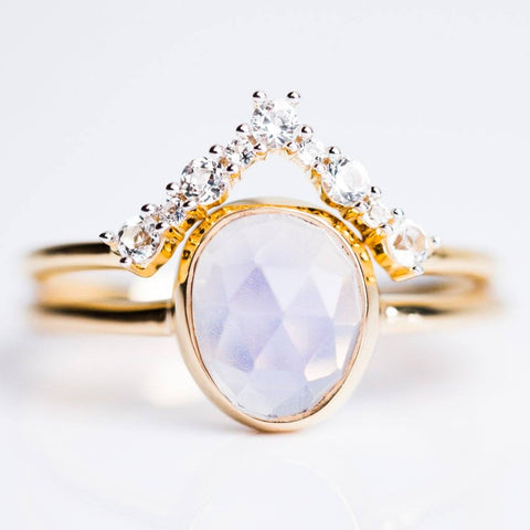 Lilac Quartz & Topaz Stacking Ring Set
