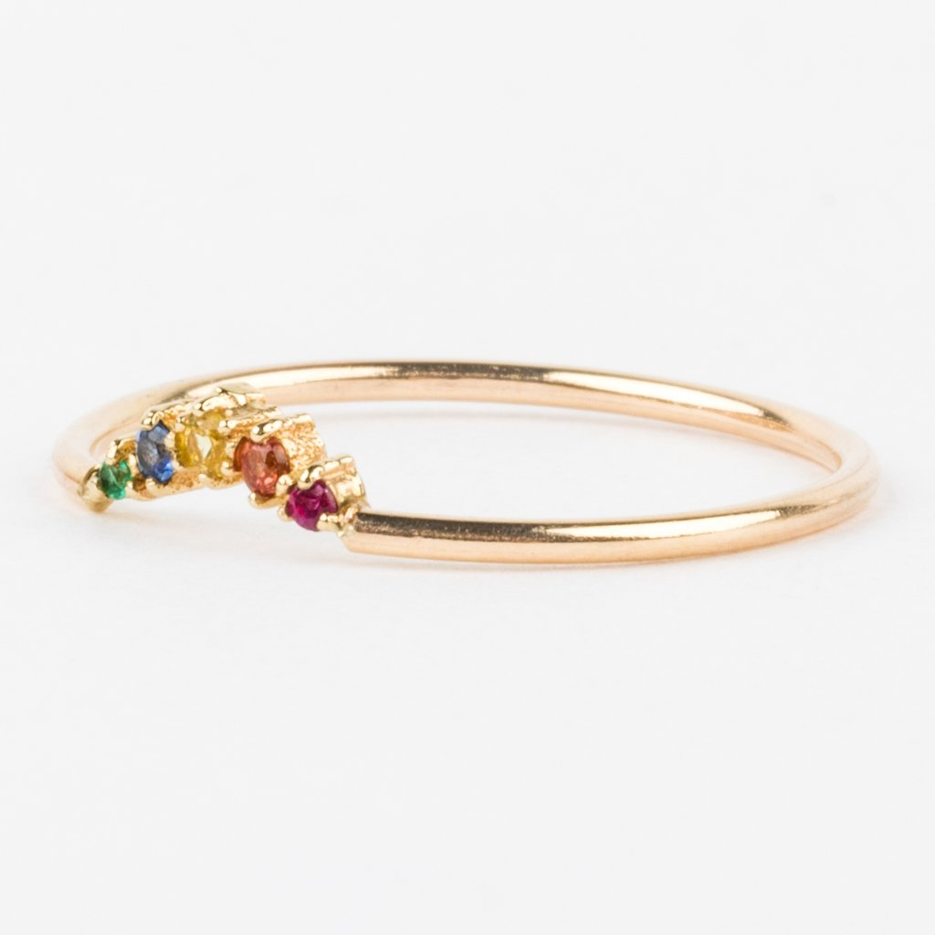 Rainbow Ballerina Ring in Primary - rings - Gjenmi Jewelry local eclectic