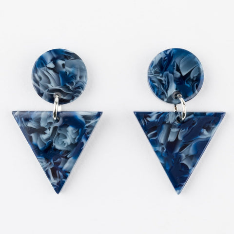 Pyra Earrings in Ocean Torte - earrings - Casa Clara local eclectic