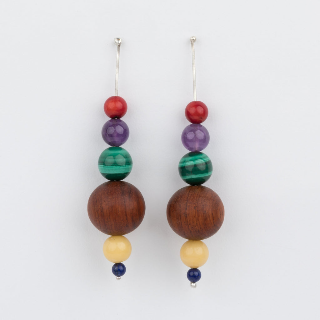 Wood & Stones Drop Earrings - earrings - Luiny local eclectic