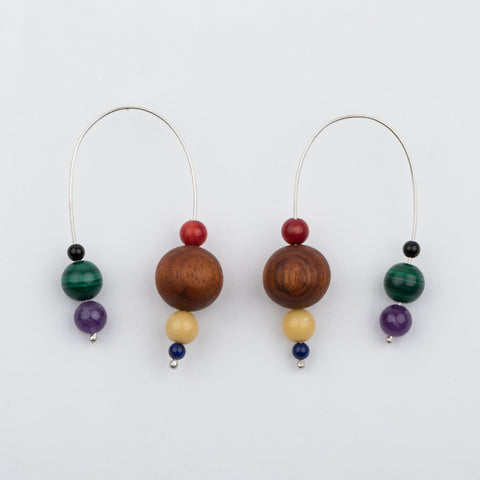 Wood & Stones Mobile Earrings - earrings - Luiny local eclectic