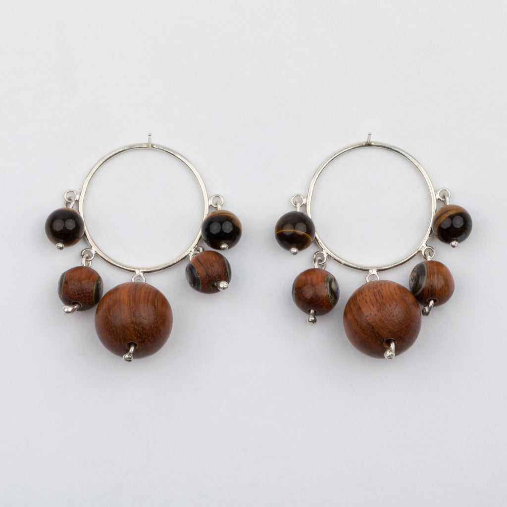 Bayong Wood Earrings - earrings - Luiny local eclectic