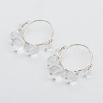 Crystal Quartz Mobile Earrings - earrings - Luiny local eclectic