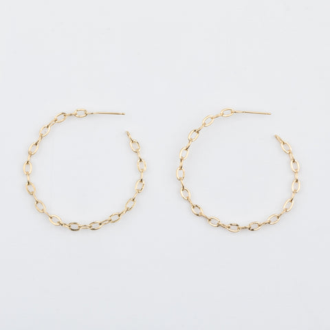 Alicia Chain Hoop Earrings - earrings - Five and Two local eclectic