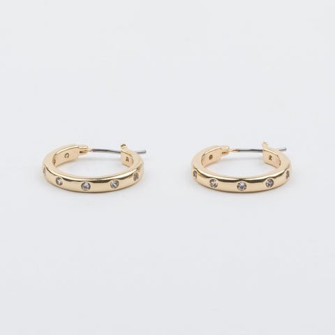Everly Mini Diamond Hoop Earrings - earrings - Five and Two local eclectic