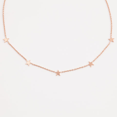Rose Gold Paige Choker Necklace - necklaces - Five and Two local eclectic