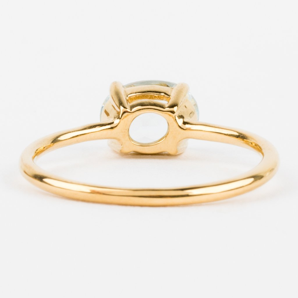Aquamarine simple gold ring