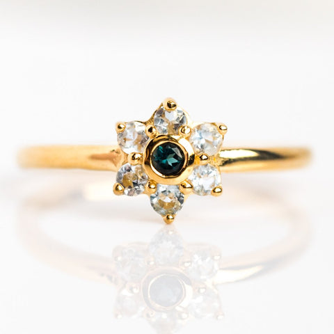 Julienne Blue Topaz Band - rings - Minette local eclectic
