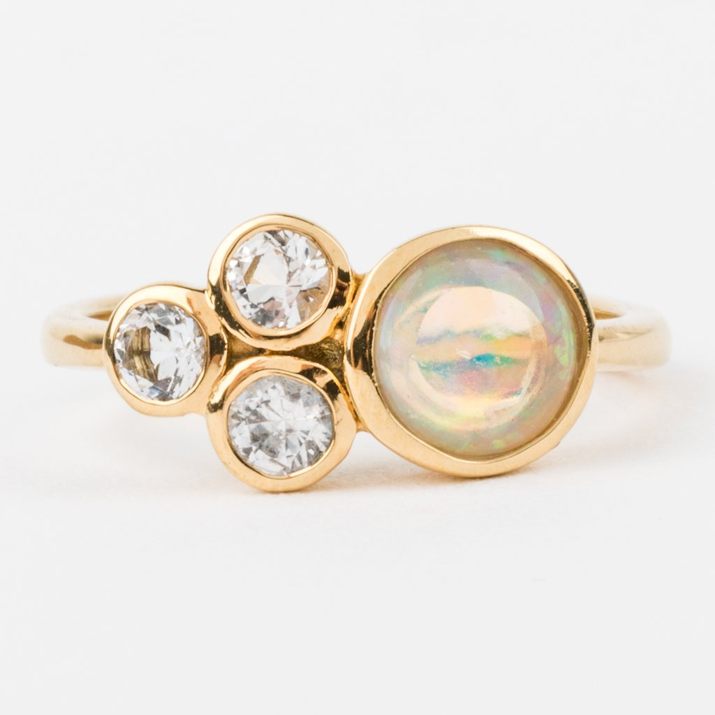 Trinity Opal and Topaz Band - rings - Minette local eclectic