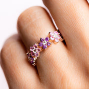 Fleur Amethyst and Pink Sapphire Band rings Minette