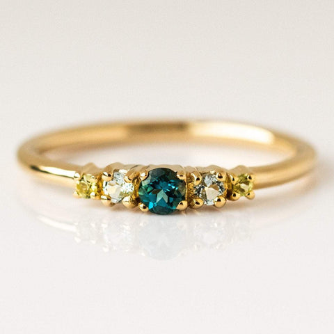 Local Eclectic - 14K Yellow Gold Maya Topaz and Peridot Ring - Minette