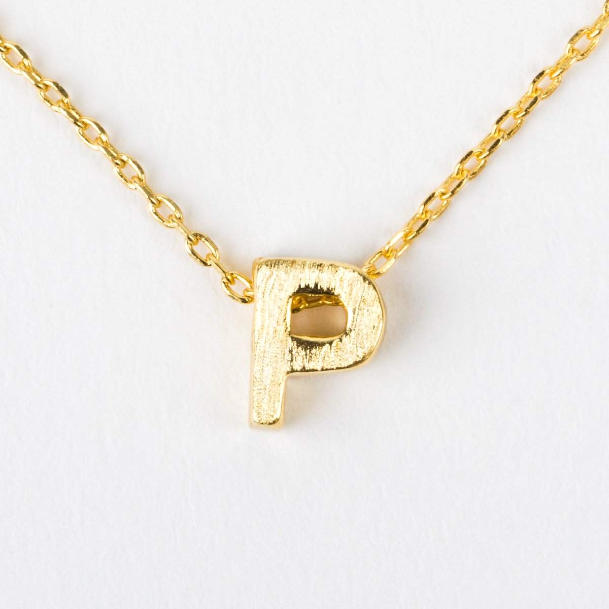 p initial block letter gold necklace necklaces melinda maria local eclectic