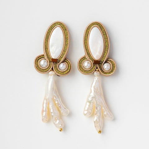 River Pearl Large Statement Drop Earrings Musula Jewels