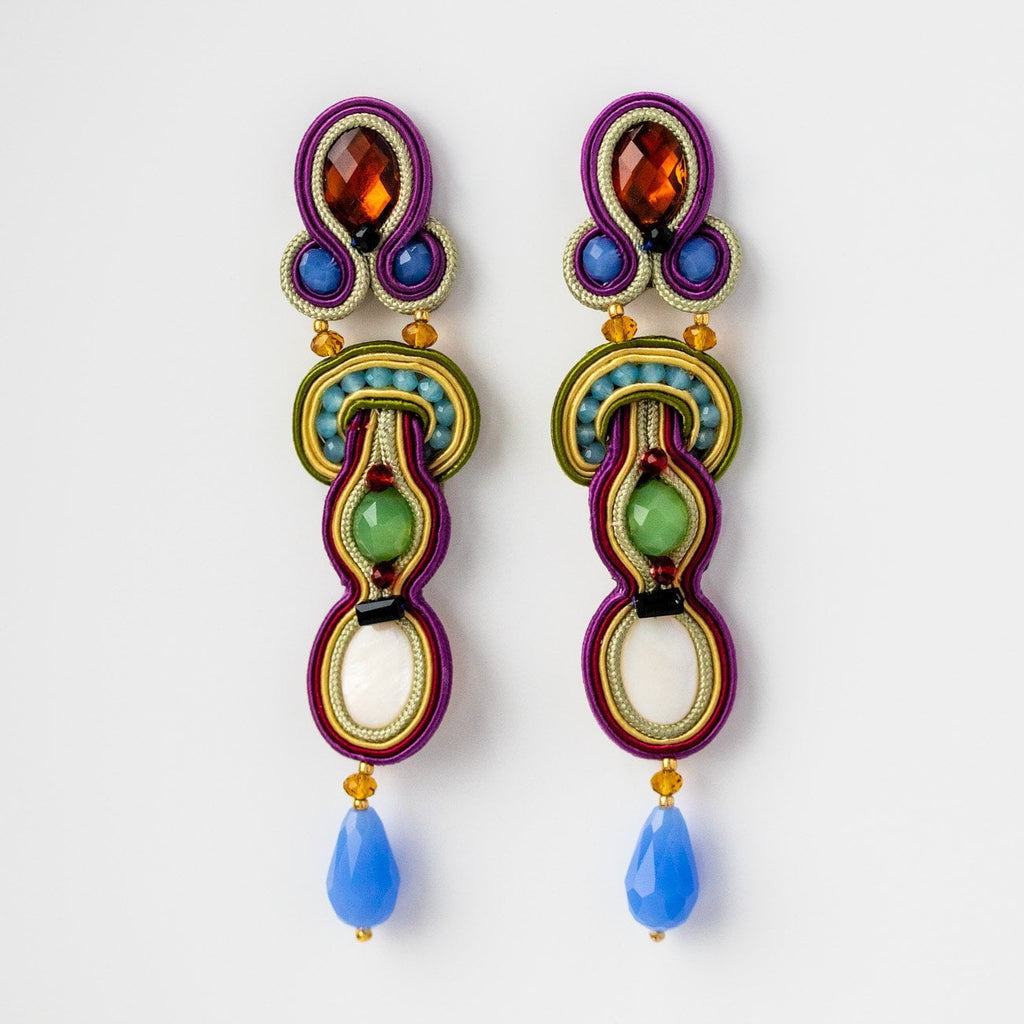 Large Statement Drop Earring Jewelry Beading Unique Musula Jewels