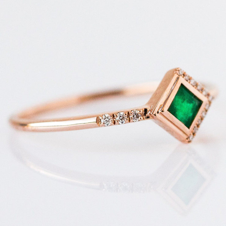 Emerald & Diamond Mysterieux Ring - rings - La Kaiser local eclectic
