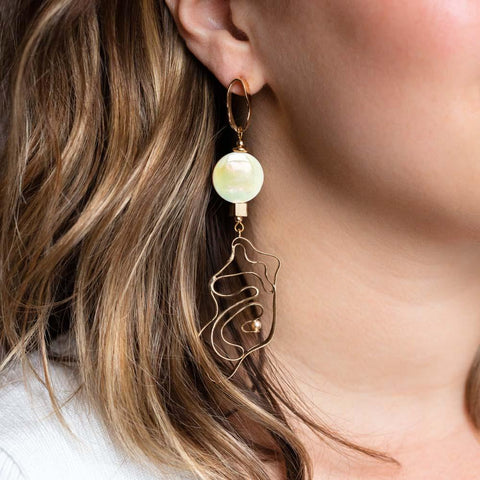 Hidden Pearl Shapes Earrings