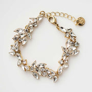 Parker Bracelet glass crystal floral inspired statement bracelet olive and piper jewelry