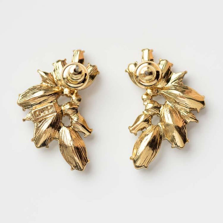 Porter Cluster Stud Earrings vintage inspired statement studs yellow gold olive and piper jewelry
