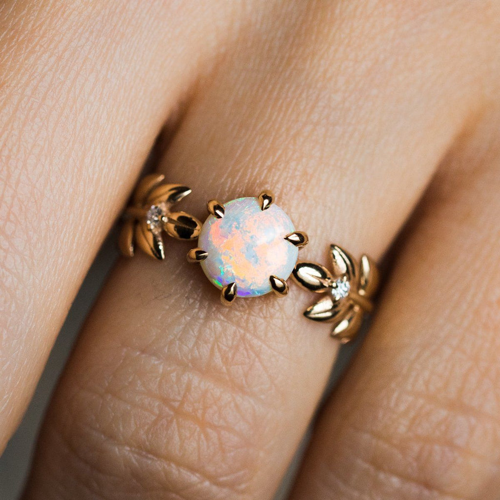 Opal Goddess Ring in 18K - rings - Nora Sermez local eclectic