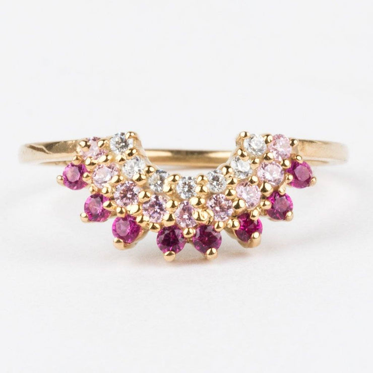 La Kaiser Pink Diamond Stacking Ring
