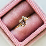 Jes Ring with Morganite & Diamonds - rings - Paradiiso local eclectic