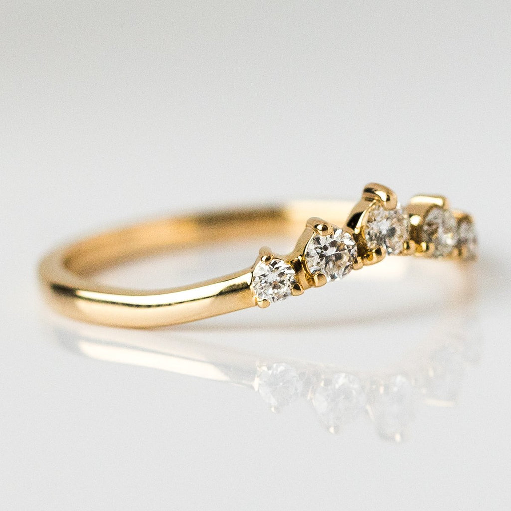 Simple Catherine Wedding Band - rings - Point No Point Studio local eclectic