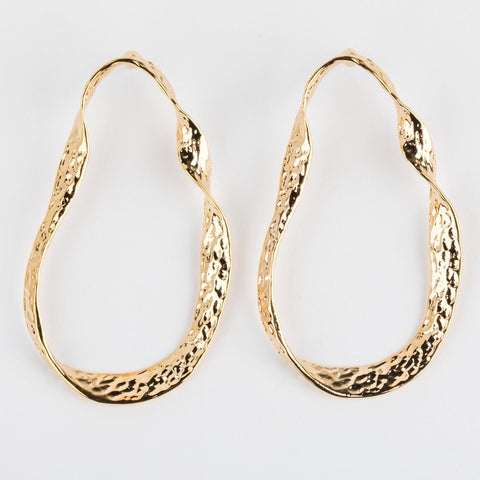 Essential Twisted Gold Hoops - earrings - Reliquia local eclectic