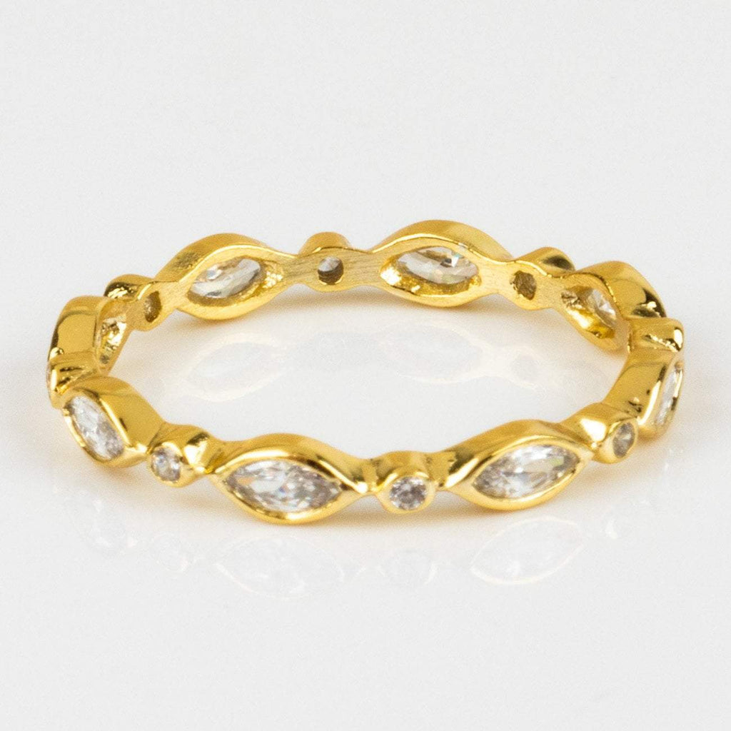 Julia Yellow Gold CZ Ring Melinda Maria Eye Local Eclectic Minimal Jewelry