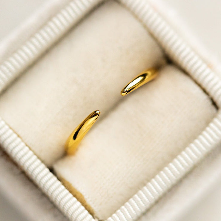 Talia Ring unique dainty yellow gold modern jewelry