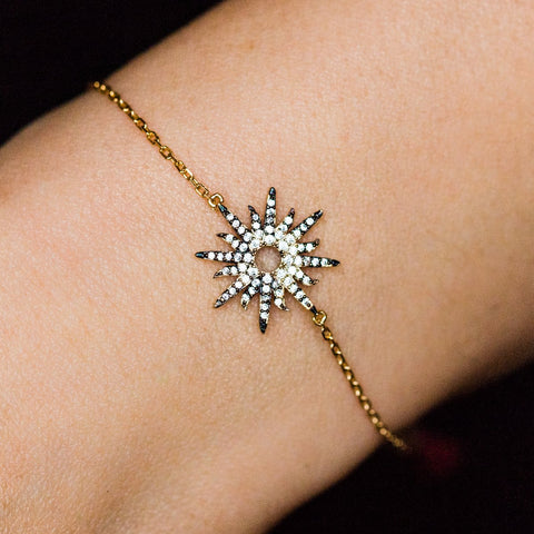 Starburst Diamond Bracelet - bracelets - Shashi local eclectic
