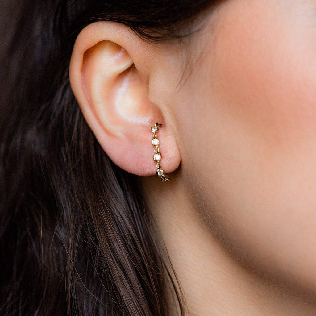 CZ Ear Cuff Yellow Gold Melinda Maria
