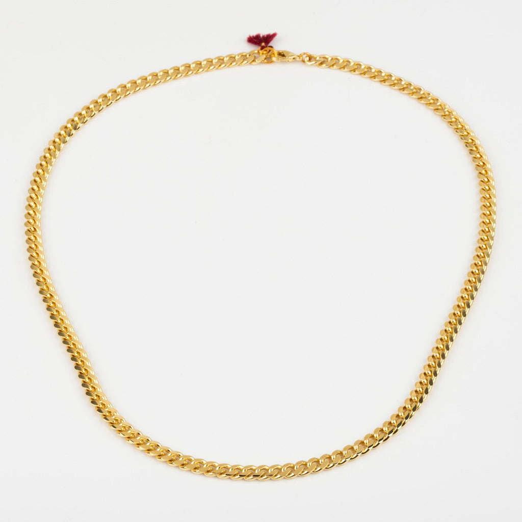 Simple Modern Yellow Gold Chain Necklace Shashi