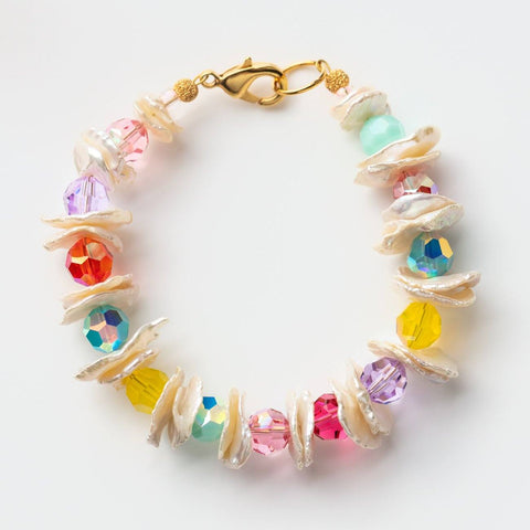 Marina Pearl Bracelet statement colorful beaded jewelry