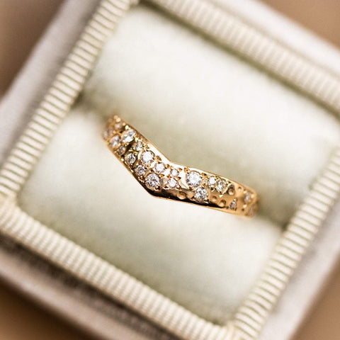 Solid Gold Celestial Diamond Yellow Gold Sofia Zakia Ring Band