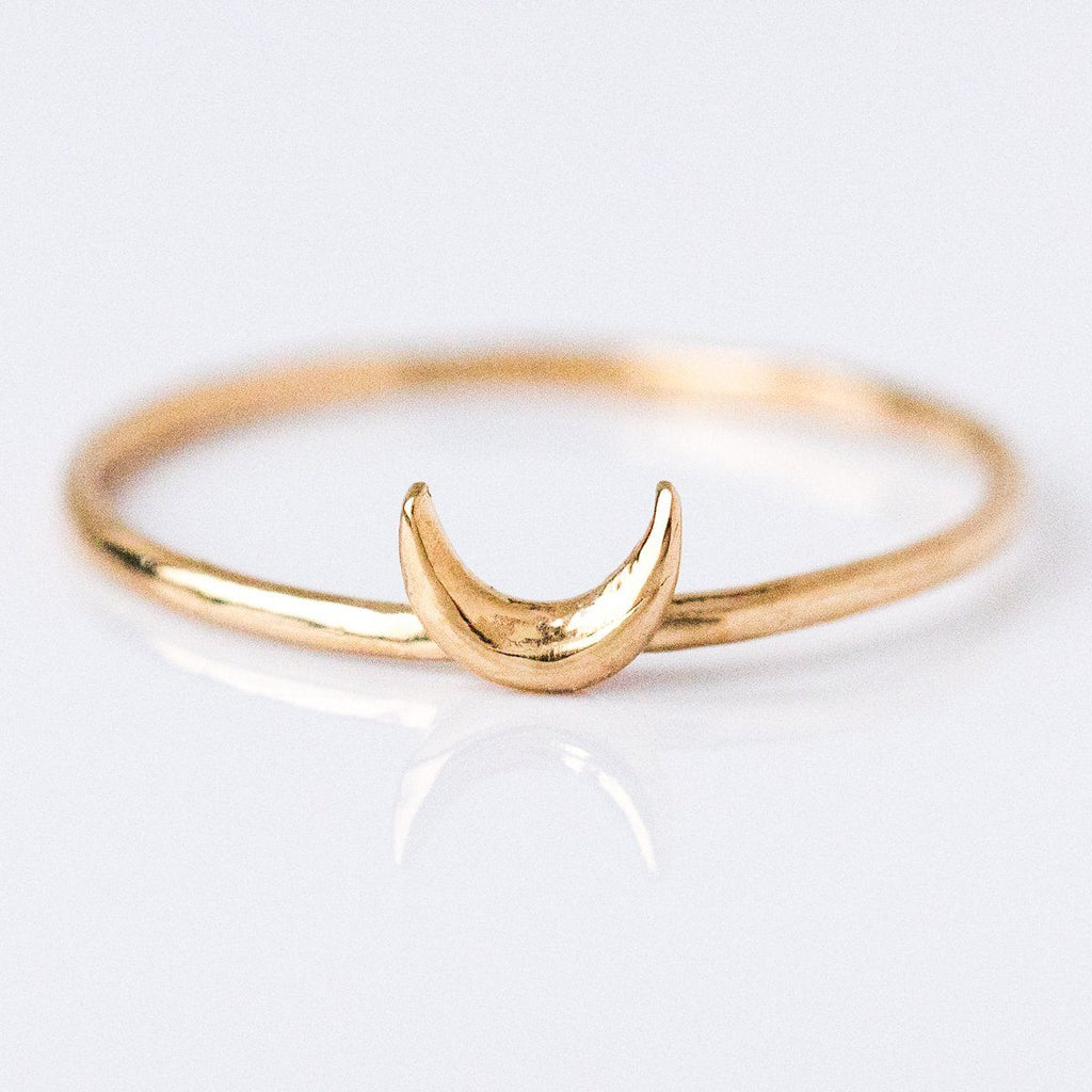Crescent Moon Ring - rings - Sofia Zakia local eclectic